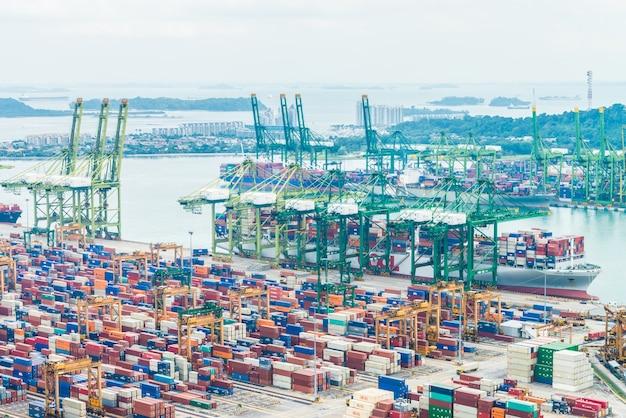 Export ship logistics industrial trade