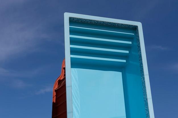 Exposed fiberglass pool for sale
