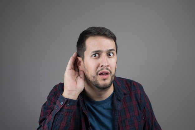 Expression of not hearing or not understanding