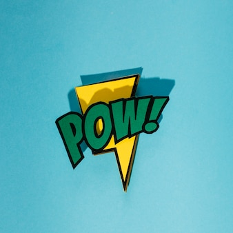 Expression text pow on lightning thunderbolt