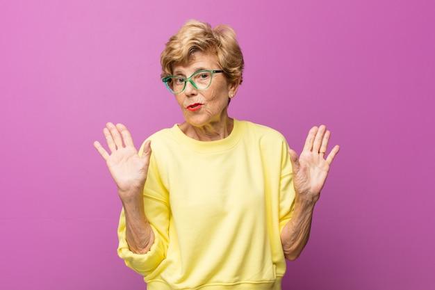 표현 아름다운 노인 여성