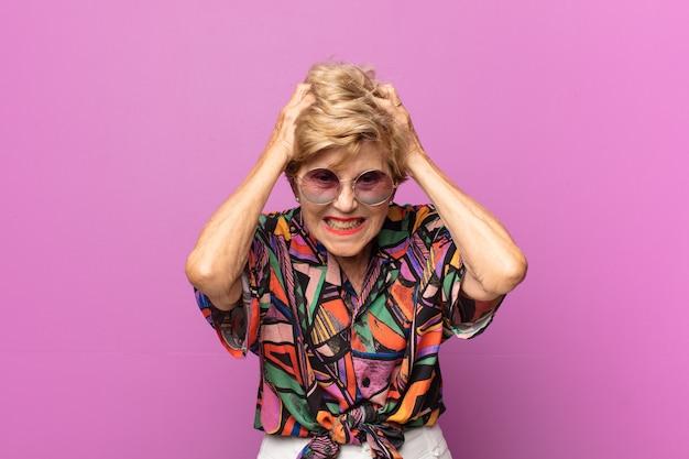 Выразительная красивая пожилая женщина