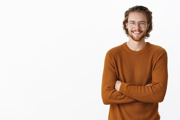 Expressive redhead bearded man