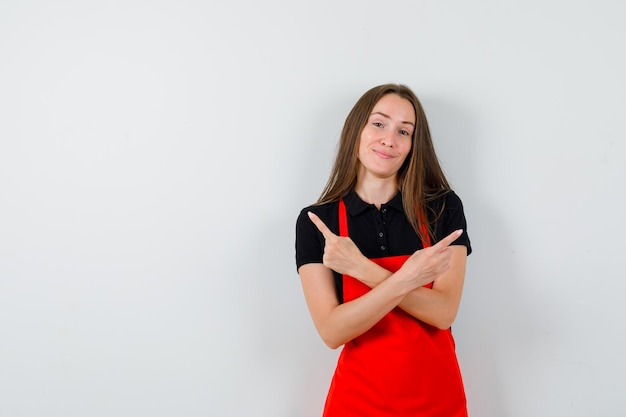 Expressive young lady posing in the studio