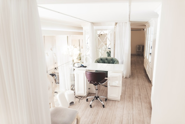 Exquisite beauty salon with a stylish interior.