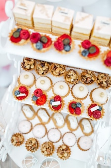 Exquisite fruit sweets for guests