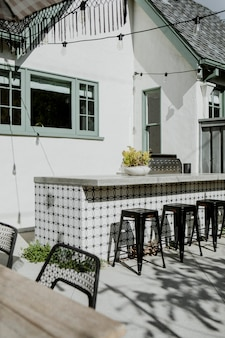 Exterior bar in a home