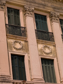 Exterior of building in corfu