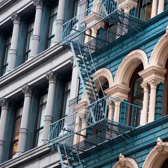 Exterior of a building in manhattan, new york city, u.s.a.