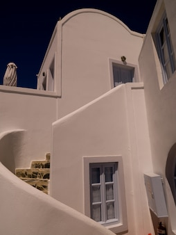 Exterior of a building in santorini greece