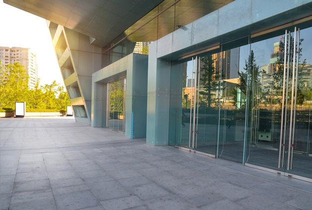 Exterior of modern buildings Free Photo