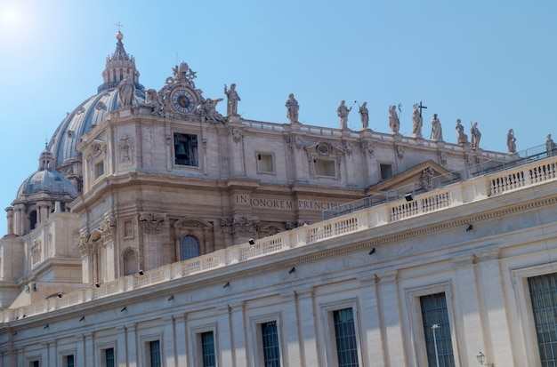 Exterior of st. peter basilica in rome