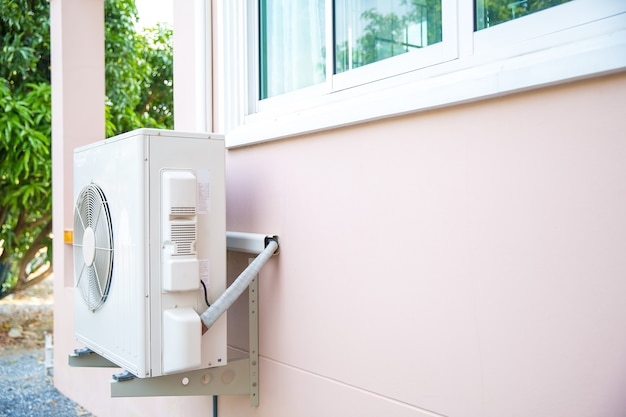 External split wall type outdoor air compressor.
