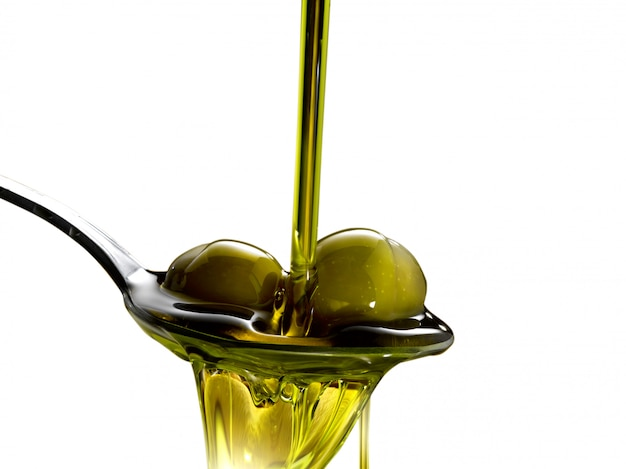 Extra virgin olive oil isolated
