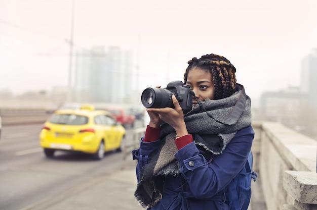 Extreme afro photographer