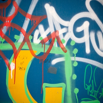 Extreme close up of graffiti on concrete wall