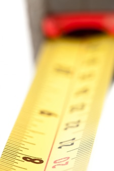 Extreme close up of measuring tape