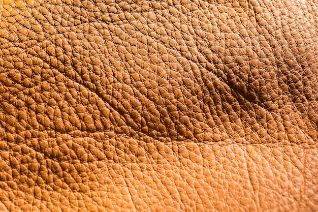 Extreme close-up vintage brown leather