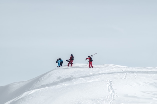 Extreme sport snowboarding