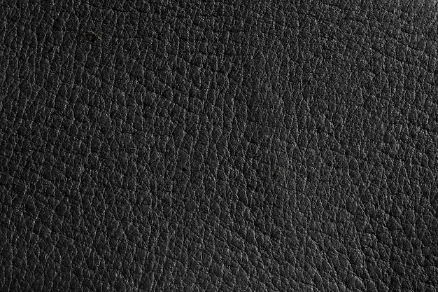Extremely close-up black leather texture background surface