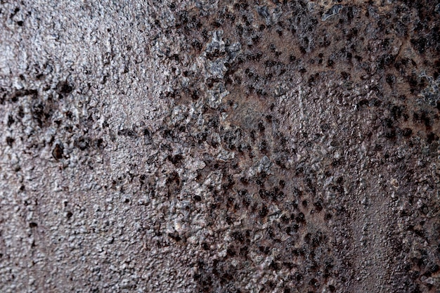 Extremely close-up rusty iron walls