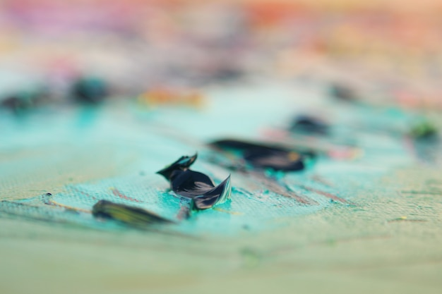 Extruded oil artistic paint - close view