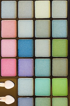 Eye brushes with colorful  eye shadows palette