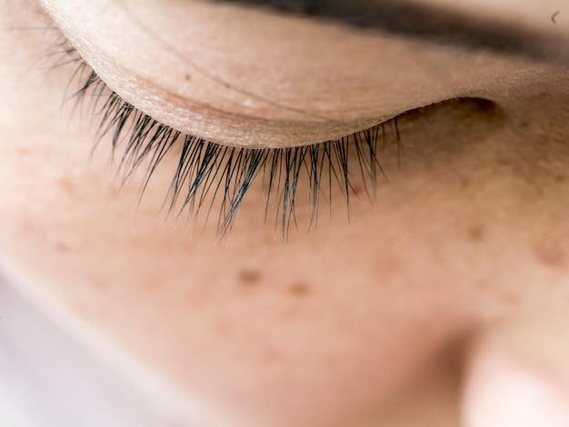 Eye hair on soft focus