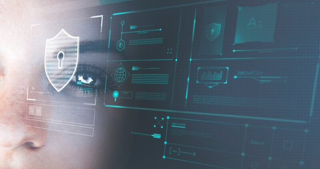 미래형 로봇의 눈