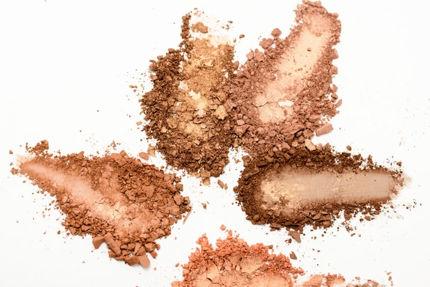 Eye shadow or bronzer neutral brown smudge isolated