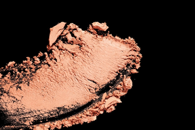 Eye shadow cracked brown and beige smudge texture background