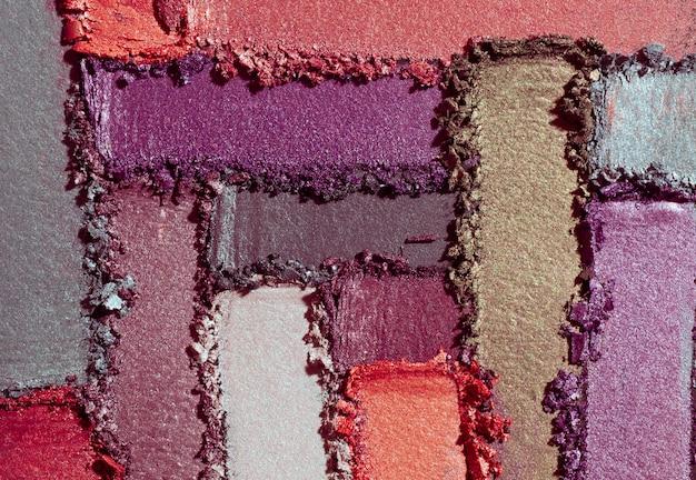 Тени для век разноцветные фиолетовый оранжевый зеленый пятно рыхлый фон