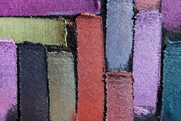 Тени для век разноцветные фиолетовый оранжевый зеленый желтый пятно рыхлый фон