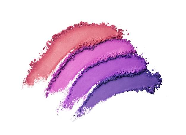 Eye shadow multi colored purple orange smudge loose background