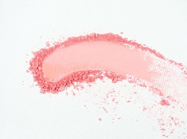 아이섀도 또는 브론저 핑크 스머지