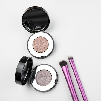 Eye shadows and cute brushes