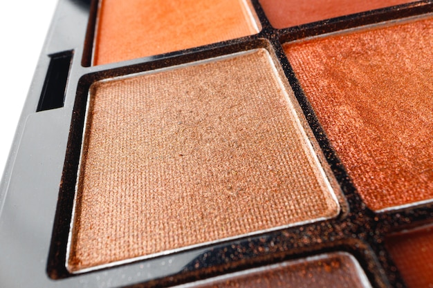 Eye shadows make-up cosmetic palette close up photo