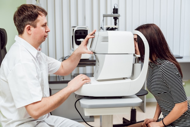 Eye tonometry. non-contact tonometer.