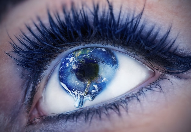 Eye with inside the world