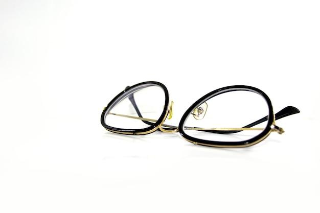 白い背景で隔離の眼鏡