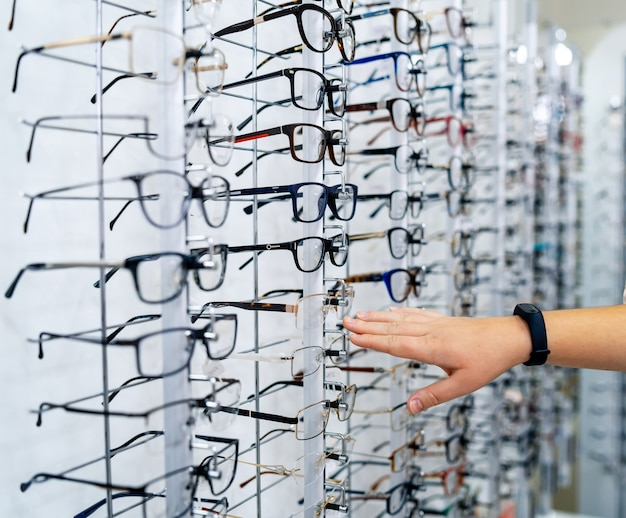 Eyeglasses shop.