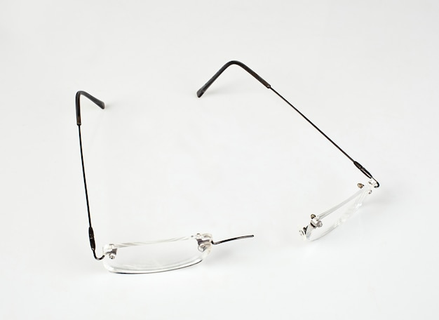 Eyeglasses with lightweight frame broken