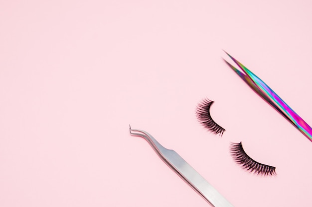 Eyelash extension tools. accessories for eyelash extensions. artificial lashes