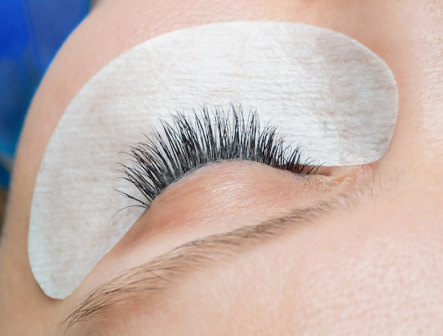 Eyelashes after the procedure of extension