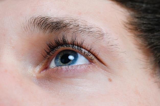 Eyes of a young man closeup