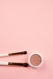 Eyeshadow and makeup brushes collection