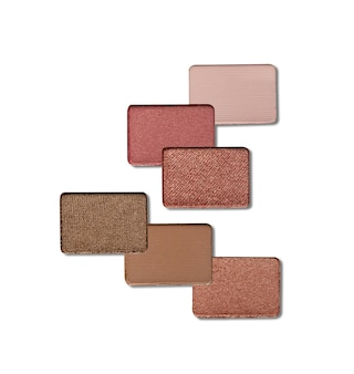 Eyeshadow swatch isolated on white