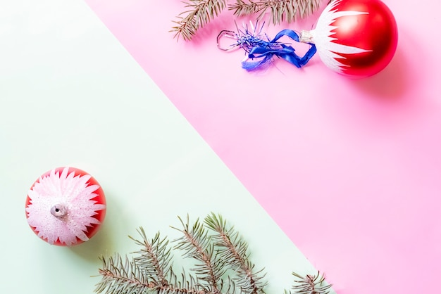 Креативная двухцветная плоская планировка рождественского украшения f
