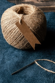 生地と糸の配置の高角度
