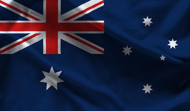 Fabric australia flag